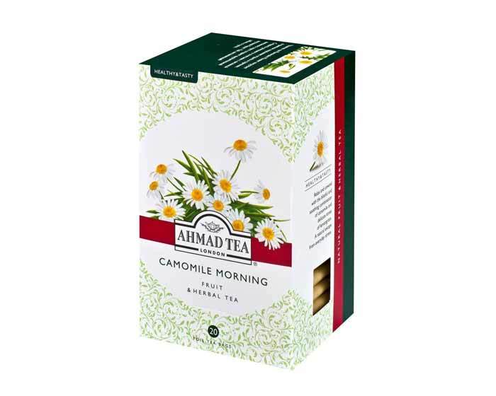 Чай травяной в пакетиках из фольги Ahmad Tea с ромашкой и лимоном сорго (Камомайл монинг), 20 пак/уп