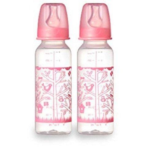 Бутылочки 250 мл, 2 шт. в уп. (розовый)