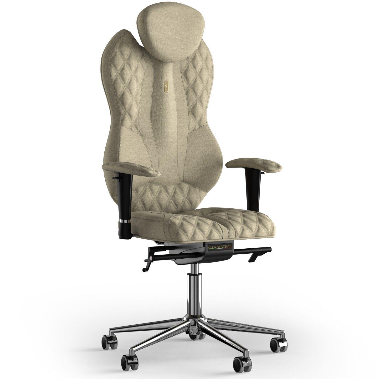 Кресло KULIK SYSTEM GRAND Ткань с подголовником со строчкой