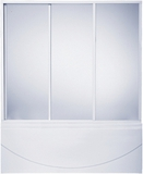 шторки для ванной 170см, 3-х створчатая, Пластик