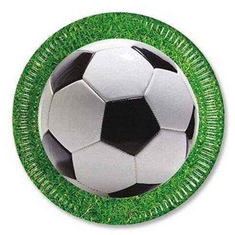 Тарелка Футбол зеленый 23см 8шт/Р