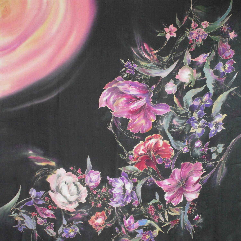 Платок Голландские цветы роз С-77