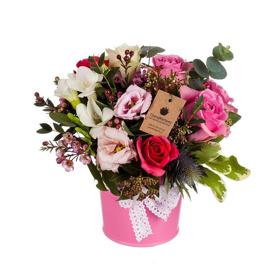 Букет из роз и фрезий - Эсмина