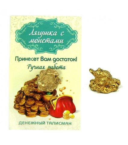 Кошельковый талисман лягушка с монетками