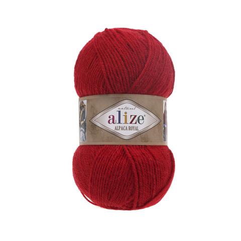 Пряжа Alize Alpaca Royal красный 56