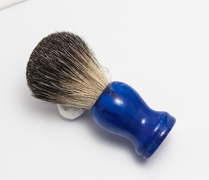 RAZ306-3 Помазок с деревянной рукояткой синего цвета фото 02