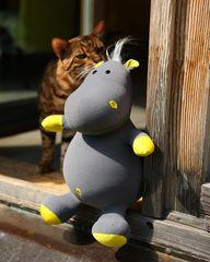 Подушка-игрушка антистресс Gekoko «Бегемот малыш Няша», желтый 3