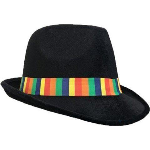 Шляпа-федора велюр радуга/A