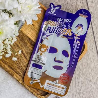Восстанавливающая тканевая маска для лица с эпидермальным фактором Elizavecca EGF Deep Power Ringer mask