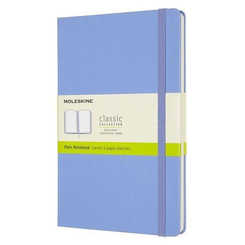 Блокнот Moleskine Classic QP062B42 Large 130х210мм 240стр. нелинованный твердая обложка голубая гортензия