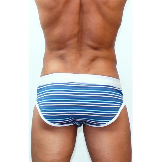Мужские трусы брифы(синие) Calvin Klein 365 Print Lines IV Print