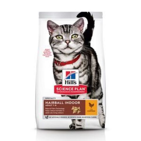 7608 ХИЛЛc Корм сух.для домашних кошек Хаербол контроль вывод шерсти из желудка 1,5кг*6