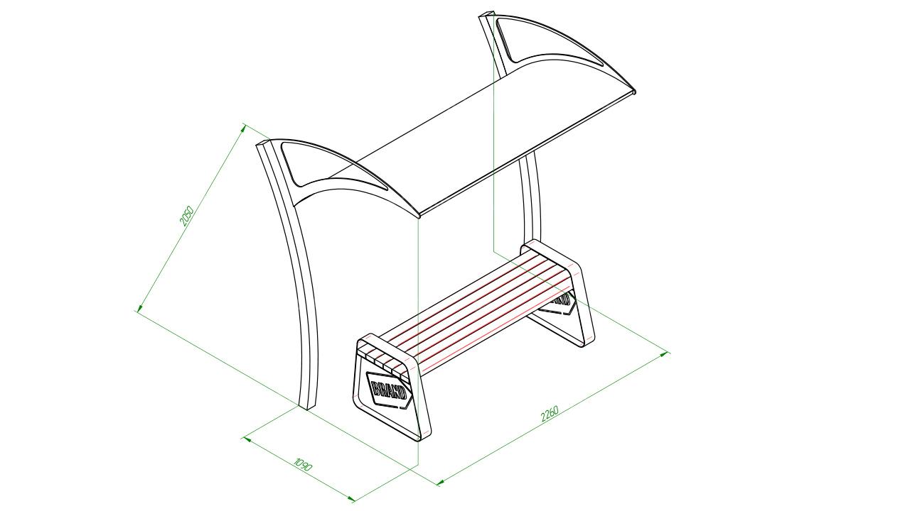 Скамейка с навесом SCAM0116