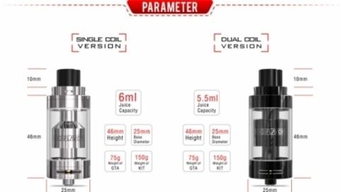 Обслуживаемый атомайзер DigiFlavor FUJI GTA Dual Coil черный