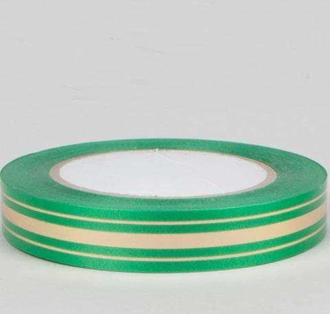 Лента золотая полоса Россия (размер: 2 см х 50 ярдов) Цвет: зеленый
