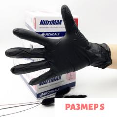 Перчатки нитриловые черные  Nitrile размер S