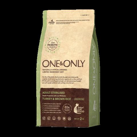 One&Only Turkey & Rice Adult Sterilised Сухой корм для стерилизованных кошек Индейка с рисом низкозерновой