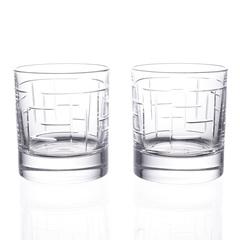 Набор стаканов для виски RCR Labirinth Style Prestige 290 мл (2 шт), фото 2