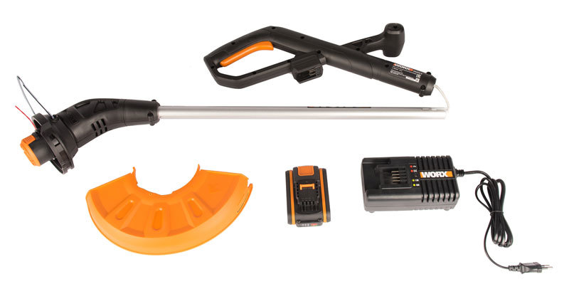 Триммер аккумуляторный WORX WG157E, 25 см, 20В, 1,5Ач х1, ЗУ