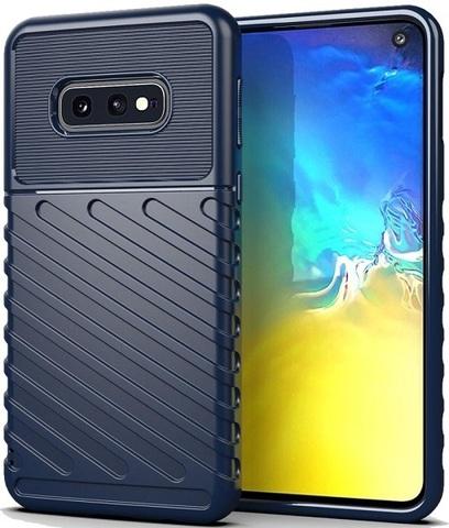 Чехол Carbon для Samsung Galaxy S10E серия Оникс | синий