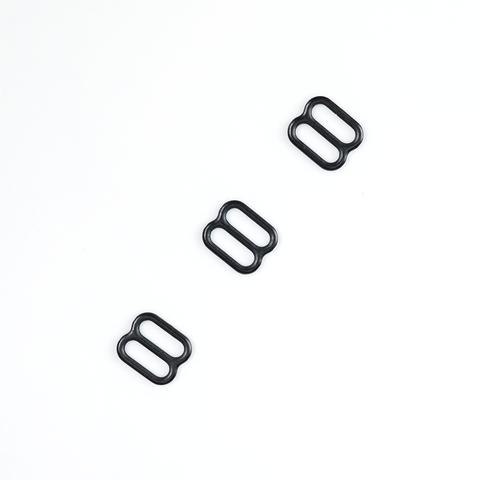 Регулятор для бретели черный матовый 10 мм