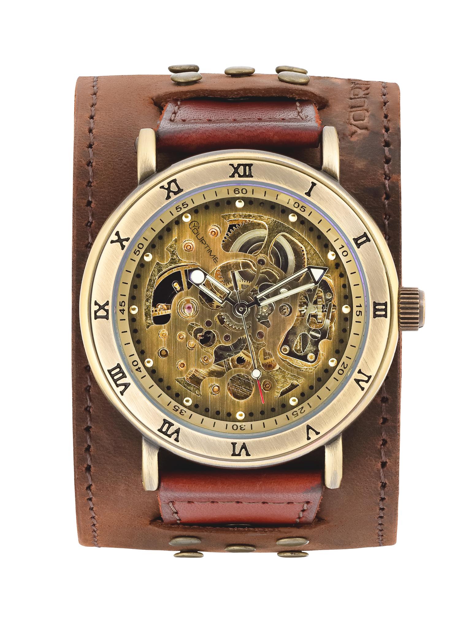 Часы скелетоны мужские механические Indiana YOURTIME