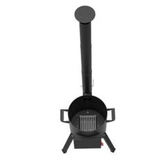 Печь с дымоходом для казана Берель 440К на 16-22л