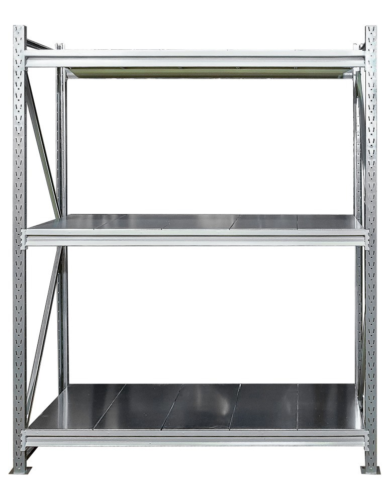 Металлический напольный стеллаж (глубина 800, высота 2000 мм)