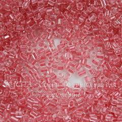 38397 Бисер Preciosa рубка 8/0, Кристалл с закатно-розовым центром