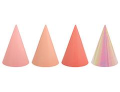 Колпаки, Оттенки розового, 4 цвета, 12 шт, 1 уп.