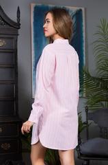 Рубашка розовая хлопок