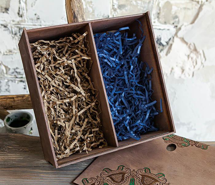 BOX234-3 Подарочная коробка «Мандала» с ручной росписью (25*25*12 см) фото 07