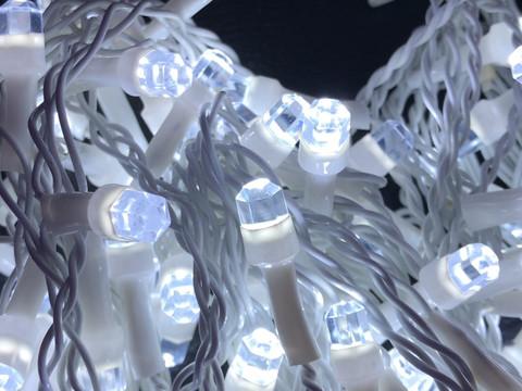 Штора-гірлянда Кришталь D 120 LED (E) 3 на 0.5 м. біла