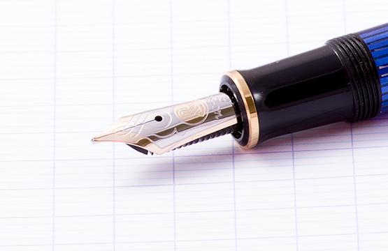 Pelikan Souveraen - Black and Blue GT, перьевая ручка, F