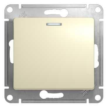 Выключатель 1 клав.с подсветкой 10А Эко сосна Таймыр TDM
