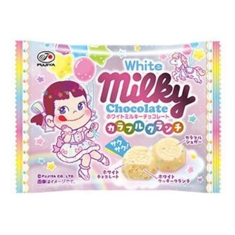 Шоколад Милки Milky Белый шоколад с хрустящей разноцветной крошкой 35 гр