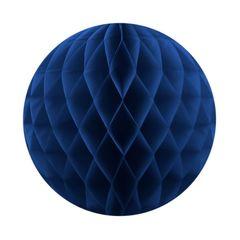 Бумажный Шар-соты, Темно-Синий, 40 см