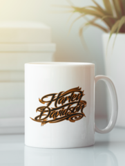 Кружка с рисунком Harley-Davidson (Харли-Дэвидсон) белая 006