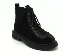 Черные ботинки с интересной шнуровкой