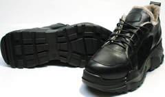 Женские утепленные кроссовки с массивной подошвой Studio27 547c All Black.