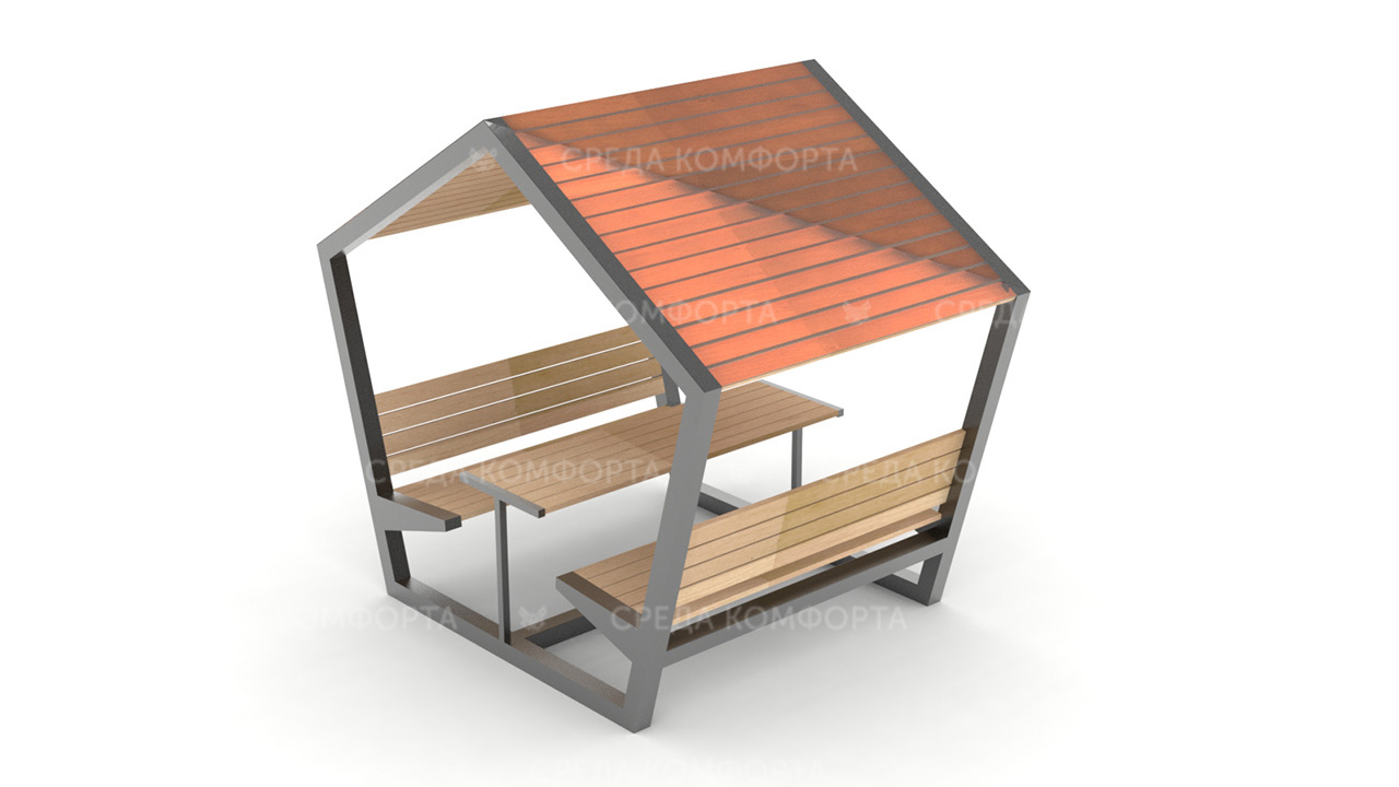 Скамейка с навесом SCAM0111