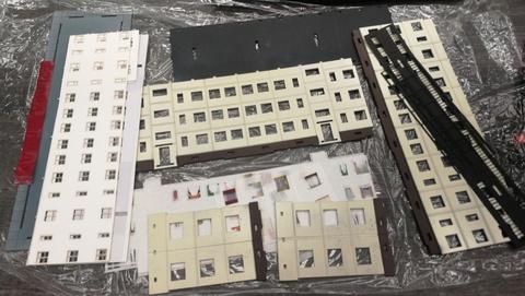 Типовой панельный дом 3-этажный, 2 подъезда 1/87 НО