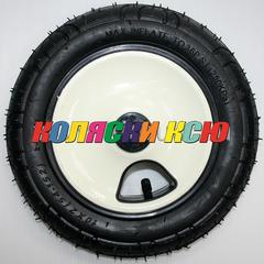 Колесо для детской коляски №027014 надув 10 дюймов без вилки 54-152 10х2 (втулка на ось 10мм) БЕЖЕВЫЙ