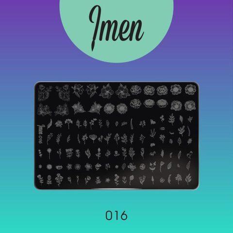 Пластина Imen для стемпинга #016