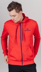 Толстовка с капюшоном на молнии  Nordski Hood Zip Red мужская