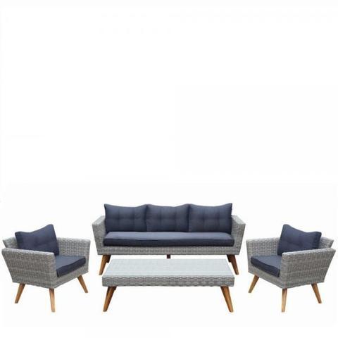 Комплект плетеной мебели AFM-605G Grey