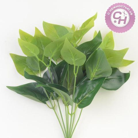 Куст листьев Сирени, 7 веток, 36 см.