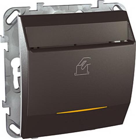 Карточный выключатель с подсветкой, 10А. Цвет Графит. Schneider electric Unica Top. MGU5.283.12ZD