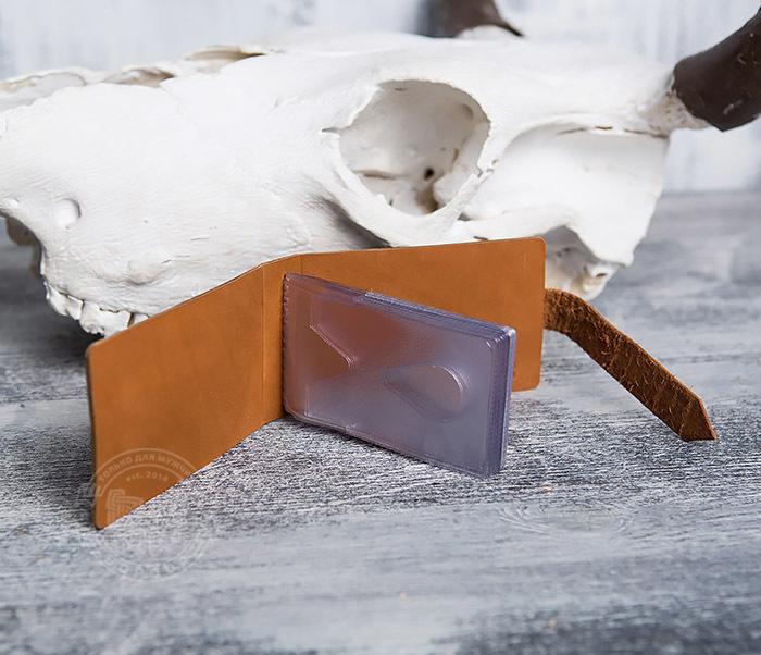 BY07-01-07 Кожаный кардхолдер «Совершенно секретно» (18 карт) фото 05