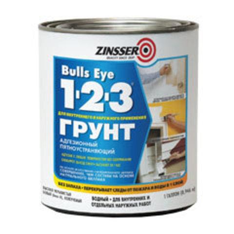 ZINSSER Bulls eye 123 Primer грунт универсальный пятноустраняющий на акриловой основе